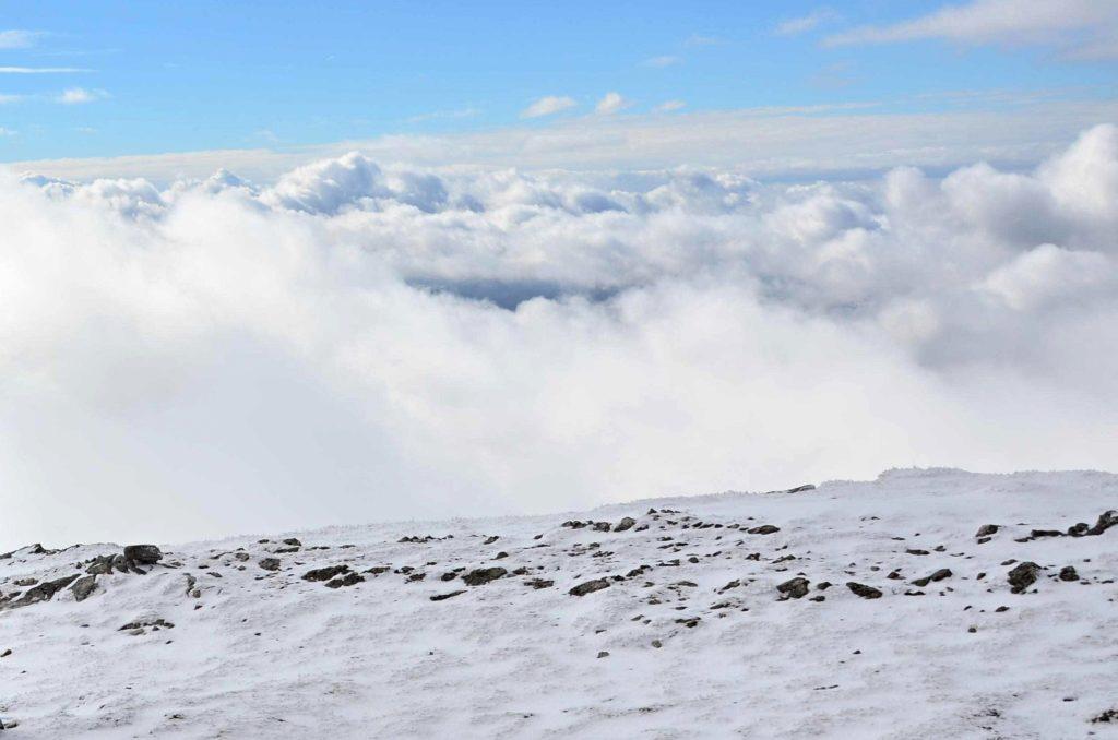 zima vrch kľak